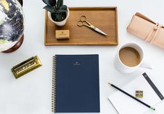 Beautiful Tools to Inspire Beautiful Work: American-made notebooks, paper goods, desktop products, brass accessories to elevate the work experience Desk Essentials, How To Introduce Yourself, How To Make, Press Kit, Foil Stamping, Desk Accessories, American Made, Paper Goods, Songs
