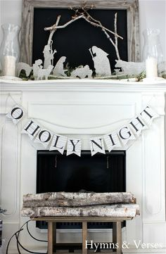 DIY German Glass Glitter Silhouette Nativity and template for O Holy Night banner Christmas Mantels, Noel Christmas, Winter Christmas, Christmas Ideas, Diy Christmas Nativity Scene, Christmas Printables, German Christmas Decorations, Outdoor Nativity Scene, Cowboy Christmas