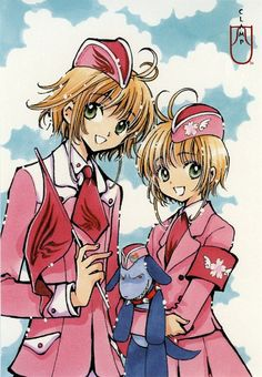 "CLAMP ~~ Sakura and... Sakura. From ""Tsubasa"" and ""CardCaptor Sakura"". Can't forget Ioryogi-san from ""Kobato.""!"