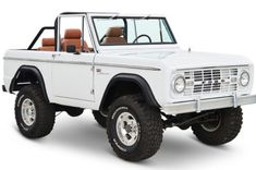 With fresh white paint, and a full new leather interior, this Classic Ford Bronco is ready for an island hopper's life on the OBX of N. Old Ford Bronco, Ford Bronco For Sale, Classic Ford Broncos, Classic Bronco, Vintage Cars For Sale, Lifted Trucks, 4x4 Trucks, Diesel Trucks, Jeep Truck