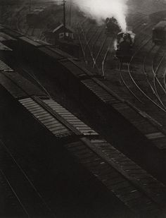 Railroad Sidings, by Paul Strand 1914    http://www.flickriver.com/photos/photo-tractatus/sets/72157626569342547/