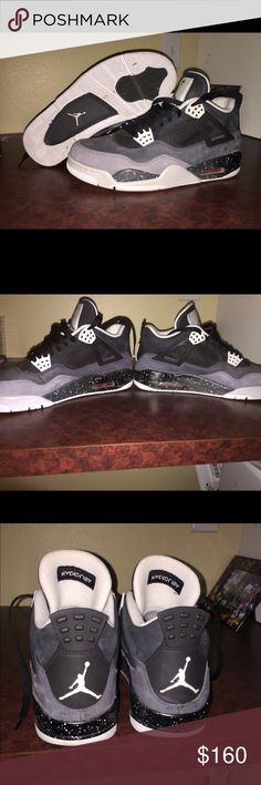 "AIR JORDAN RETRO 4s ""FEAR PACK practically new worn a hand full of times perfect condition.    OPEN TO ANY OFFERS SEND ME ONE! :)  size 8 1/2 MEN Air Jordan Shoes Sneakers"