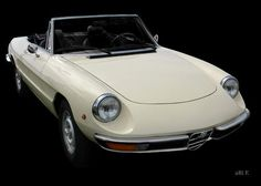 'Alfa Romeo Spider in black & white (Originalfarbe)' new created by www.Oldtimerphotography.de