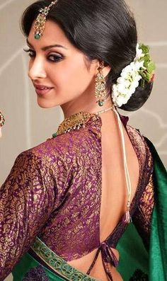 Saree blouse Indian Wedding Dresses -/bollywood--of-indian-clothes/ #bollywood  indian fashion jewelry