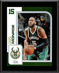 brand new 37158 38689 Greg Monroe Milwaukee Bucks 105 x 13 Sublimated Player Plaque Fanatics  Authentic Certified NBA Player Plaques
