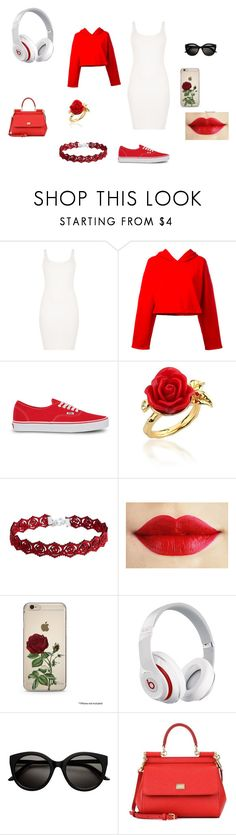 """This is What YOU CAME FOR"" by angel-wwe-forever ❤ liked on Polyvore featuring BLQ BASIQ, Golden Goose, Vans, Disney Couture, Beats by Dr. Dre and Dolce&Gabbana"