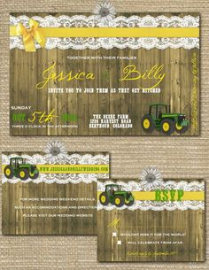 Their farm wedding was made complete with a classic John Deer tractor sitting outside their beautifully lit barn reception. Description from pinterest.com. I searched for this on bing.com/images
