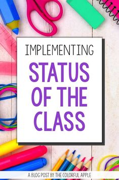 Get your students reading and talking about books more than ever with Status of the Class. Each day students share a one sentence summary of the book they are currently reading.  Learn more (and grab a free form) on the blog to use in your reading classroom!