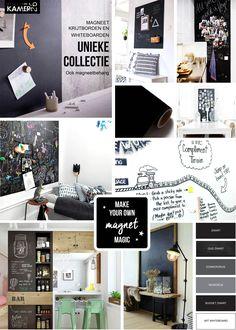 Unieke collectie magneetborden. Beschrijfbaar, sterk magnetisch en vele kleuren. Compliments, Budgeting, Magic, How To Make, Design, Atelier, Budget Organization