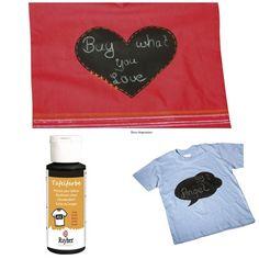 Tafelfarbe schwarz für Textilien von Die Geschenkidee auf DaWanda.com