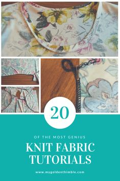 How to sew knit fabrics. Learn how to make the best knit fabric projects with these amazing tutorials. Every tip, you needed on how to sew with knit fabrics finally in one place. Sewing Basics, Sewing For Beginners, Sewing Hacks, Sewing Tutorials, Sewing Projects, Sewing Patterns, Sewing Tips, Sewing Ideas, Sewing Lessons