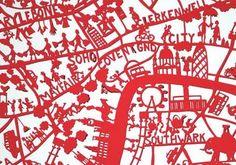 maps: London hand drawn