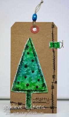 StampingMathilda: Stitched Christmas Tree