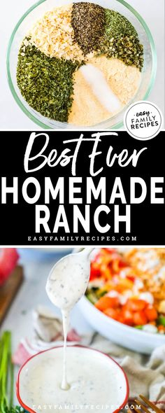 keto friendly salads YES! This is the BEST Homemade RANCH DRESSING! I will never buy the bottled stuff again because this has spoiled me forever. If you love ranch dressing you nee Buttermilk Ranch Dressing, Homemade Ranch Dressing, Ranch Dressing Powder Recipe, Best Ranch Dressing, Jalapeno Ranch Dressing, Healthy Ranch Dressing, Homemade Ranch Dip, Chutney, Gourmet