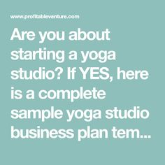 The yoga studio business plan template is a high quality hybrid supply yoga studio business plan template are you about starting a yoga studio if yes here is a complete sample wajeb Choice Image