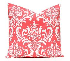 Coral Throw Pillow Covers Coral Nursery by FestiveHomeDecor