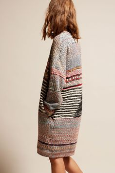 Anntian Sweater Dress in Multi Print