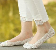 Hot New Fashion Lace Breathable Invisible Soft Socks For Wedding Shoes Lady Women Sock Slippers Silicon Foot Cover 6 Colors Socks & Hosiery Salwar Designs, Kurti Designs Party Wear, Kurta Designs Women, Pakistani Fashion Casual, Pakistani Dresses Casual, Pakistani Dress Design, Pakistani Girl, Pakistani Designers, Dress Neck Designs