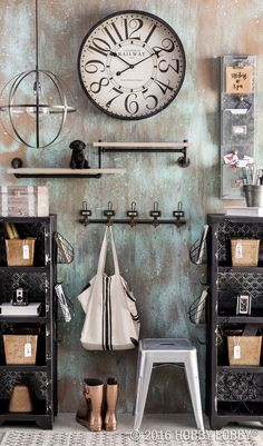 For a functional and fashionable command center, incorporate versatile, industrial elements.