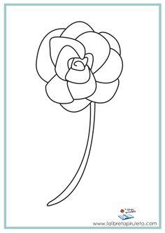 fichas para imprimir y colorear, infantil y primaria, primavera, flor, naturaleza