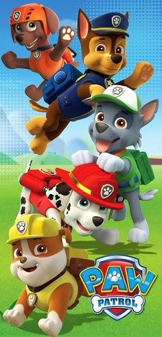 Paw Patrol Beach Towel by Nickelodeon Paw Patrol Pups, Paw Patrol Cake, Paw Patrol Party, 4th Birthday Parties, 3rd Birthday, Masha Et Mishka, Imprimibles Paw Patrol, Paw Patrol Birthday Theme, Cumple Paw Patrol