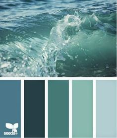 New bedroom paint colors teal design seeds Ideas Kitchen Paint Colors, Bathroom Colors, Bathroom Art, Paint Colours, Green Colour Palette, Green Colors, Colour Palettes, Sea Green Color, Decoration Palette