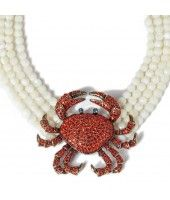 """Queen Crab"" Necklace Hyacinth"