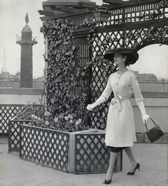 Model wearing Balenciaga, 1956