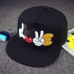 5dd5c11e639 2016 New Brand Summer Cartoon Mickey Baseball Cap Snapback Hats For Men  Women