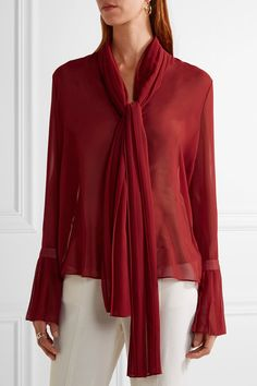 Claret chiffon Concealed button and hook fastenings through front 100% polyester Dry clean