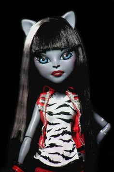 Monster High Custom Doll Repaint Purrsephone | eBay