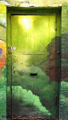 Brooklyn green door | Flickr - Photo Sharing!  http://www.travelandtransitions.com/our-travel-blog/new-york-boston-2011/new-york-city-travel-discoveries-in-brooklyn/