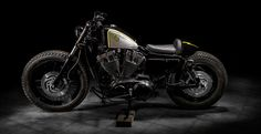 Harley Davidson 883 Sportster Bobber by Macco Motors #bobber #motorcycles #motos | caferacerpasion.com