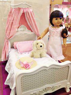 American Girl doll Samantha's bedroom and dog Jip