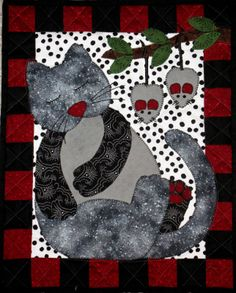 Cat Patches: Design Wall Monday