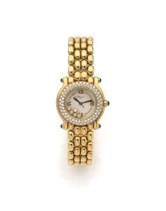 CHOPARD HAPPY SPORT, N° 404232/4142, vers 2000 Montre bracelet de dame en or. Boîtier rond, lu