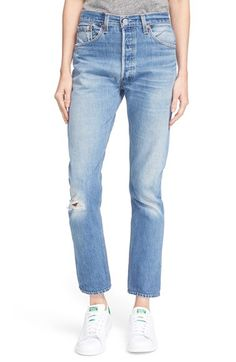 Free shipping and returns on Re/Done 'The High Rise' Reconstructed Jeans at Nordstrom.com. Vintage character with a modern fit—these high-rise jeans are made from pre-loved Levi's® that are carefully reworked by hand, ensuring no two pairs are exactly alike. Launched in Los Angeles by Jamie Mazur and Sean Barron, Re/Done sources and selectively handpicks vintage Levi's jeans from the around the globe and deconstructs them to make one-of-a-kind styles that both flatter the figure and…