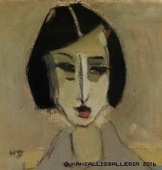 Helene Schjerfbeck - Göta, Painting: oil on canvas Finland Helene Schjerfbeck, Harlem Renaissance, Female Painters, National Gallery, Montage Photo, Renoir, Artist Art, Figurative Art, Painting & Drawing