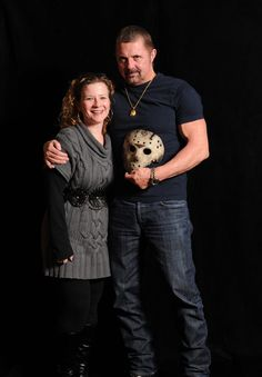 Jennifer Parris with Kane Hodder (aka Jason from Friday the 13th). Such a nice guy!!!!