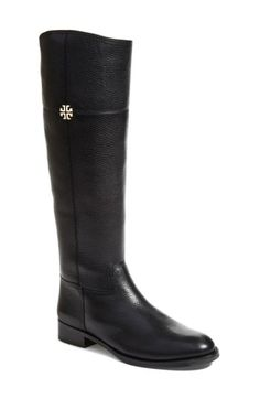 Free shipping and returns on Tory Burch 'Jolie' Riding Boot (Women) at Nordstrom.com. A pristine logo medallion stands out against the richly pebbled leather of a definitive riding boot that serves as a sophisticated style staple.
