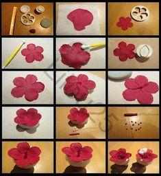 Aujourd'hui, je vous propose la méthode que j'ai utilisée pour faire les fleurs d'hibiscus en pâte à sucre du gâteau