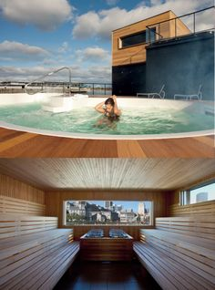 A Nautical Day At Bota Bota Montreals Boatthemed Spa Spa - Bota bota floating spa in montreal by sid lee architecture
