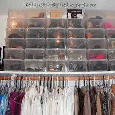 Simple Shoe Organization! #bellacreative #closet #organization