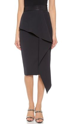 5a8c52bc98a5 Milly Cascade Midi Skirt-This Milly skirt has a cascading ruffle for a  fluid addition