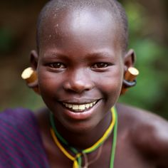 Ethiopia, tribes, Surma, Suri people Portrait of a beautiful Suri girl in Bargoba village near Kibish.by Dietmar Temps Ethiopian Tribes, Ethiopian People, African Tribes, African Women, Photo Stock Images, Most Beautiful Faces, Beautiful Children, Tribal People, Beauty Around The World