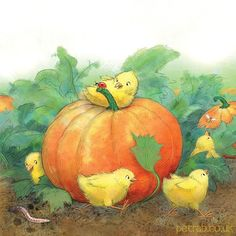 #illustration #childrensbooks #art #pumpkinpatch #pumpkin #cute