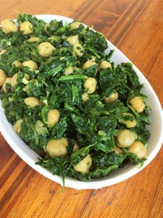 Sauteed Spinach with Garlic and Chickpeas | Vegan | Gluten Free | Healthy Eating Recipes | Vegetables | Healthy Dinner |