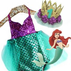 A match made in mermaid heaven!  Our little mermaid #sparkleromper and mermaid crown by @lovecrushbowtique is this summer's must have baby outfit!