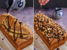 Chec vegan cu banane și migdale (banana bread) | Bucate Aromate Vegan Cake, Vegan Desserts, No Bake Cake, I Foods, Baking Recipes, Banana Bread, Muffin, Sweets, Breakfast