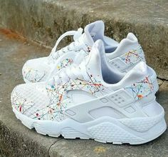 Paint splatter huaraches. I must find these!